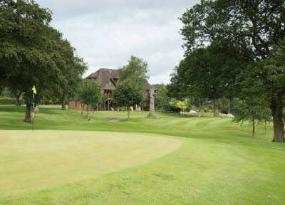 A view of the 1st hole at Arscott Golf Club