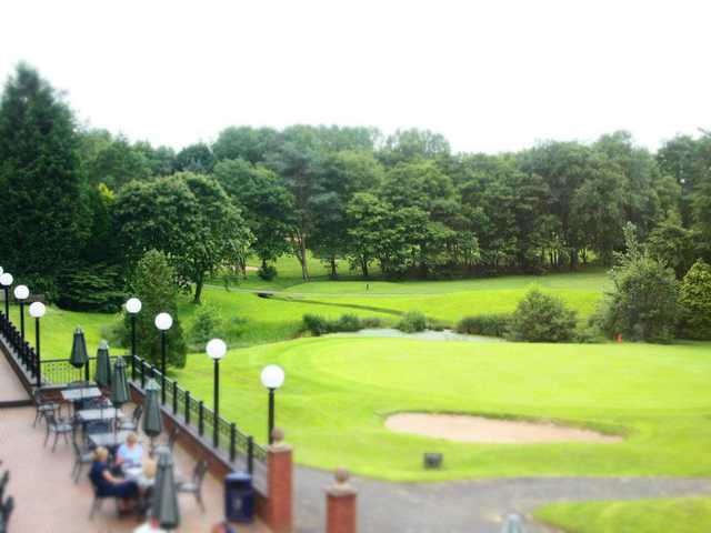 A view of the 18th green at Emerald Course from Macdonald Hill Valley Spa, Hotel & Golf