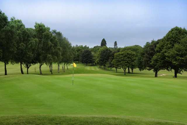 A view of the 9th hole at Oswestry Golf Club