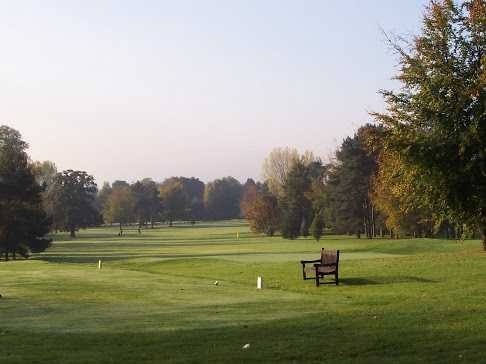A view of the 9the hole and fairway at Shifnal Golf Club