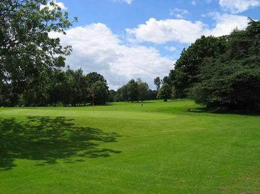 A view of green #18 at Shifnal Golf Club