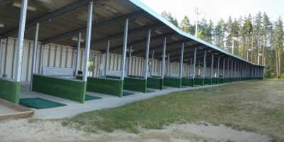 A view of the driving range tees at Jade Greens Golf Club