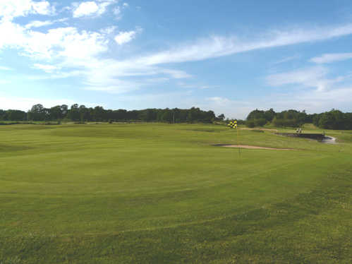 A view of the 7th green at Duchy Course from Farrington Golf & Country Club