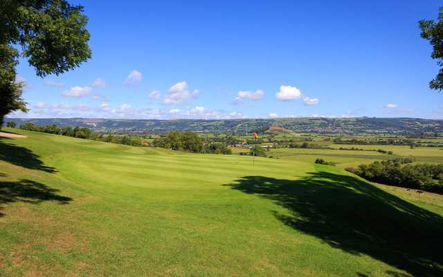 A view of the 12th green at Isle of Wedmore Golf Club