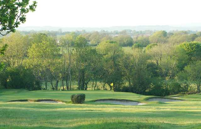 A view of the 17th hole at Mendip Course from Mendip Golf Club
