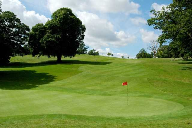 A view of the 12th hole at Orchardleigh Golf Club