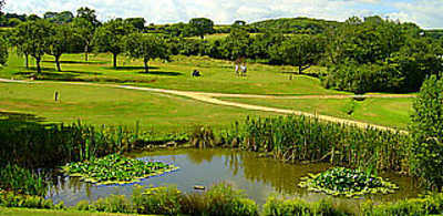 A view over the pond from Woodspring Golf & Country Club