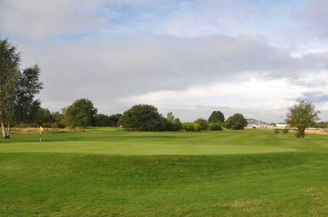 A view of green #5 at Doncaster Town Moor Golf Club