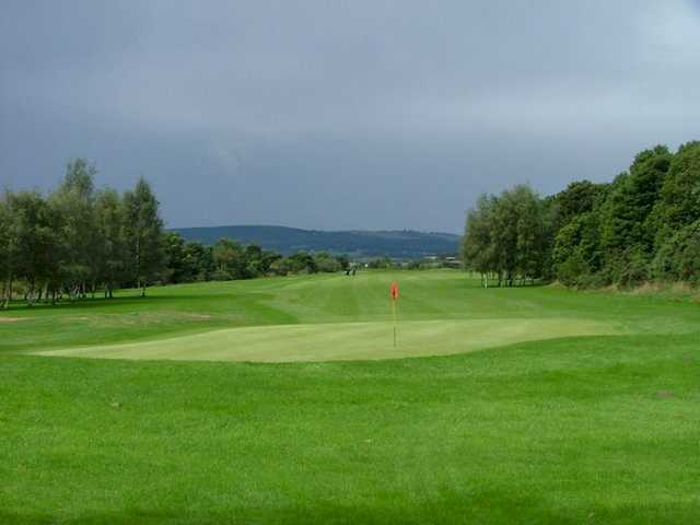 A view of green #16 at Grange Park Golf Club