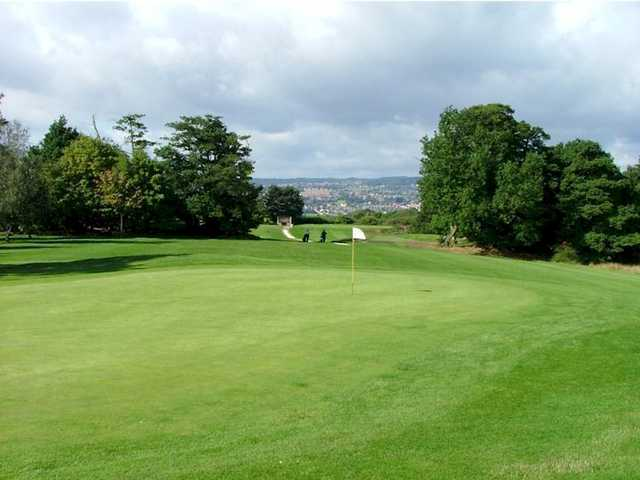 A view of the 12th hole at Grange Park Golf Club