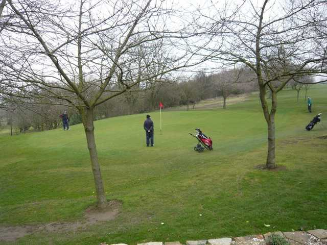 A view of green #16 at Lees Hall Golf Club