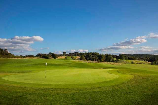 The view of the surrounding countryside from the 1st green at Silkstone Golf Club