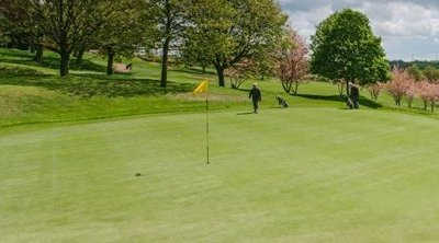 A view of green #12 at Sitwell Park Golf Club
