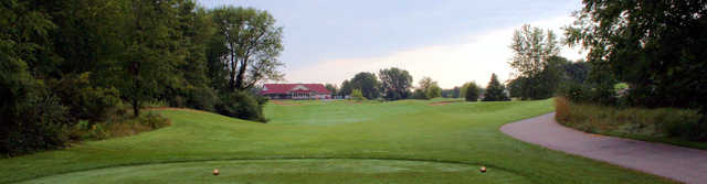 View of the clubhouse at Binder Park Golf Course