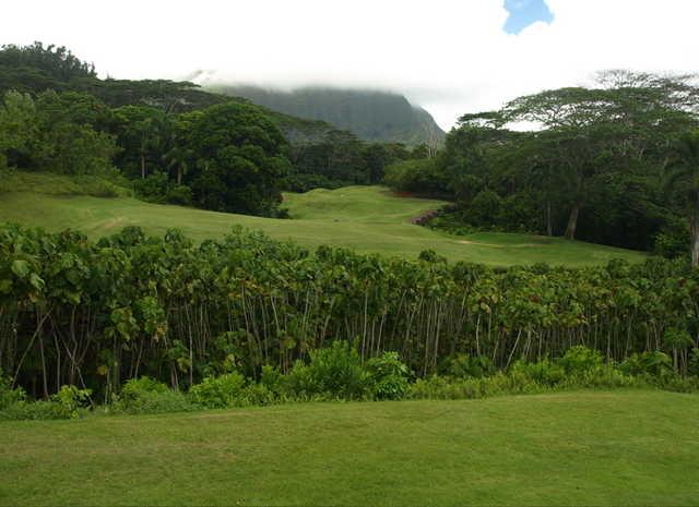 View from the 401-yard par-5 13th hole at Royal Hwaiian Golf Club