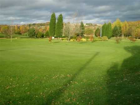 A view of the 18th hole at Wath Golf Club