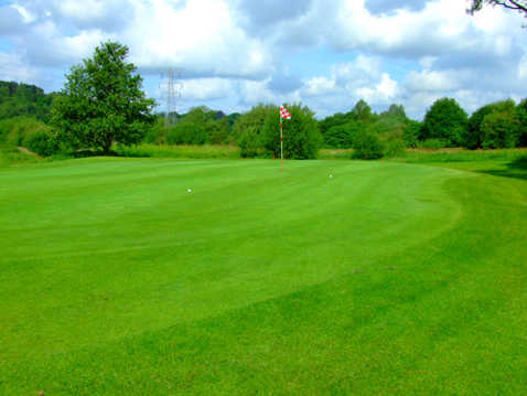 A view of the 2nd hole at Barlaston Golf Club
