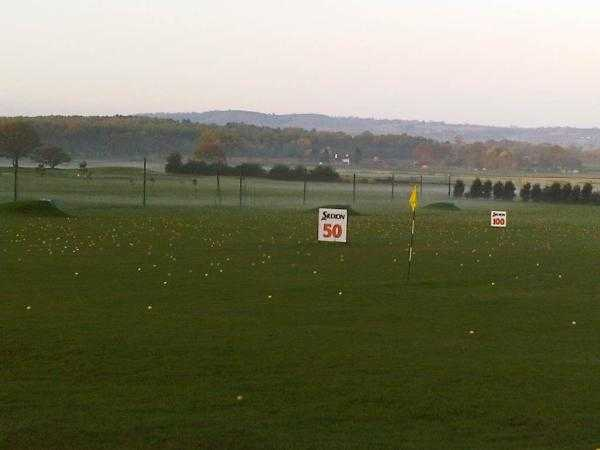 A view of the driving range at Halfpenny Green Golf Club