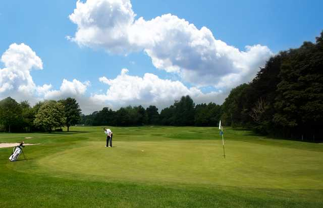 A view of a green at Lichfield Golf & Country Club