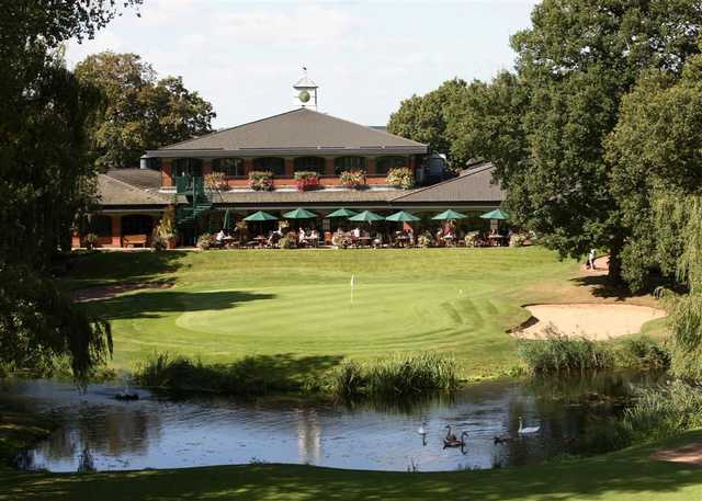 The Branston Golf & Country Club - 18th hole & the clubhouse