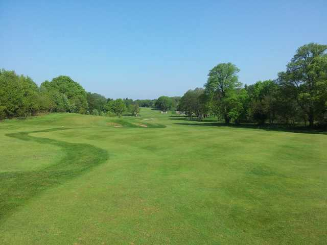 Looking down a fairway at the Trentham Park Golf Course