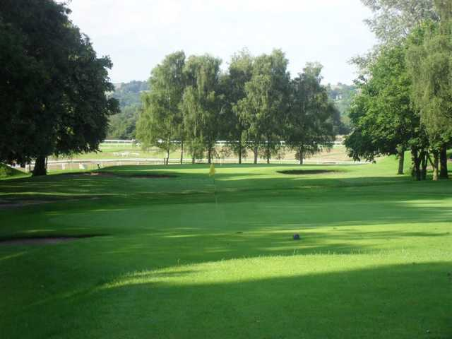 A view of a green at Uttoxeter Golf Club