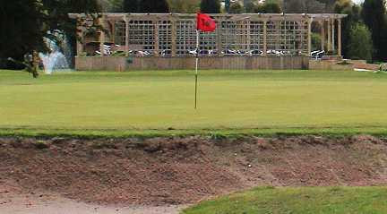 A view of the 18th hole at Wergs Golf Club