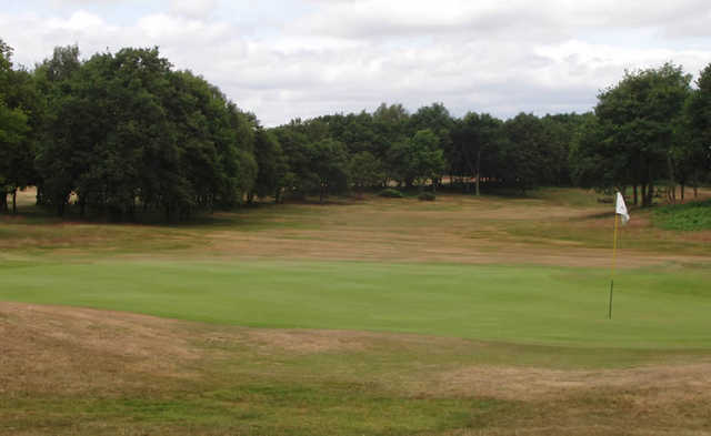 A view of green #8 at Whittington Heath Golf Club
