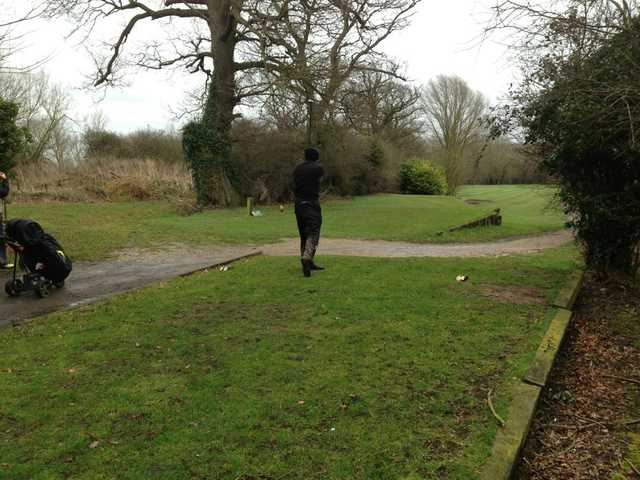 A view of a tee at Kingfishers At Cretingham Country Park