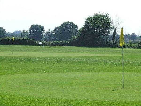 A view of two greens at Par-3 Course from Fynn Valley Golf Club