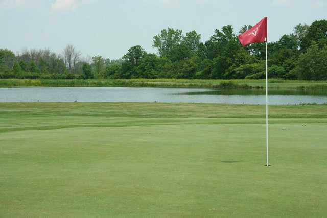 View of a hole at Lake Erie Metropark Golf Course