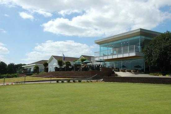 A view of the clubhouse at Stoke by Nayland Golf Club