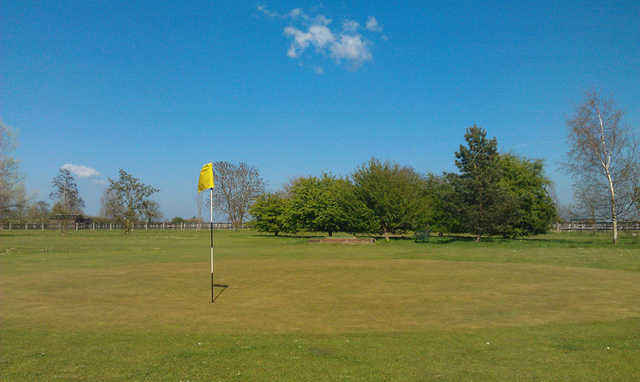 A view of green #8 at Stonham Barns Golf Centre