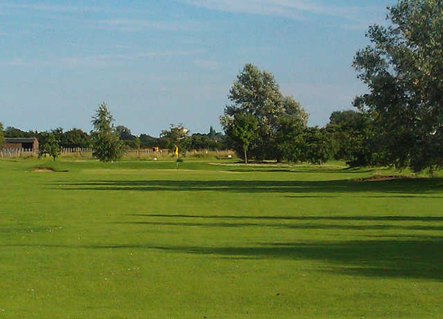 A view from the 1st fairway at Stonham Barns Golf Centre