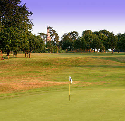 A view of a green at Stowmarket Golf Club