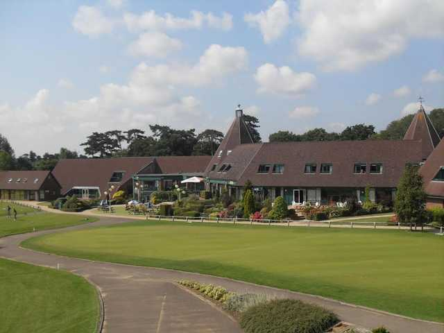 A view of the clubhouse at Ufford Park Woodbridge Hotel, Golf & Spa