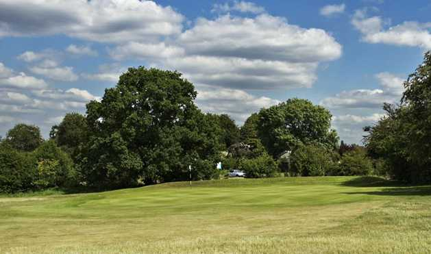 A view of the 13th green at Epsom Golf Club