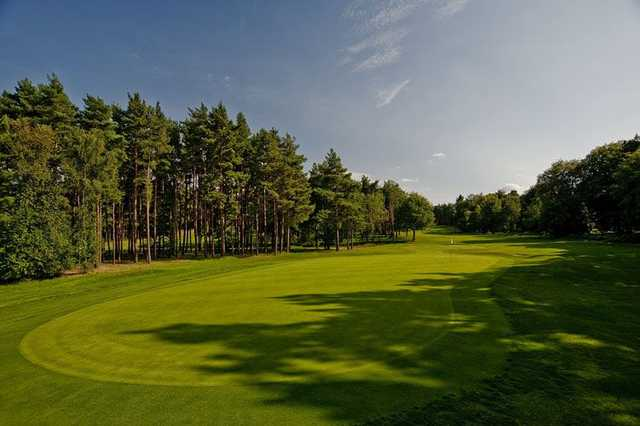The large 5th green on the Long Cross Course will give your short game a thorough examination