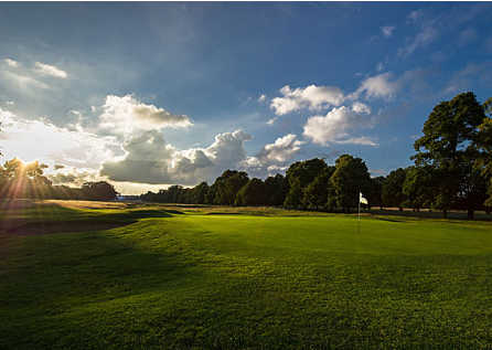 A view of a green at Hampton Court Palace Golf Club