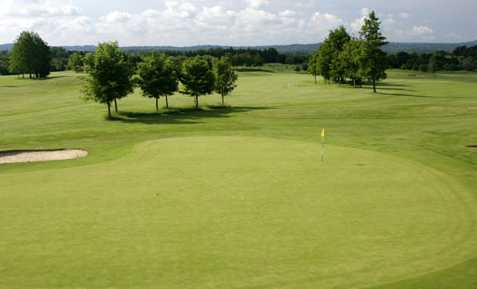 A view of the 6th green at Hurtmore Golf Club