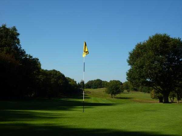 A view of hole #2 at Puttenham Golf Club