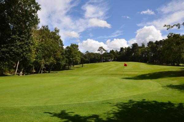A view of the 9th green at Puttenham Golf Club