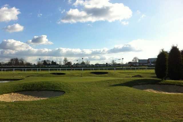 A view of the 4th hole at Sandown Park Golf Centre