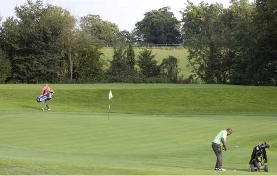 A view of green #17 at Surbiton Golf Club