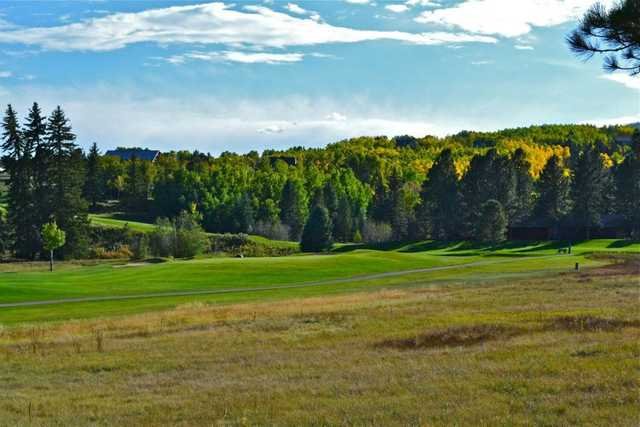 4th hole and 5th teebox at the Angel Fire golf course.