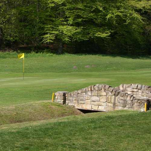 A view of green #8 at Garesfield Golf Club
