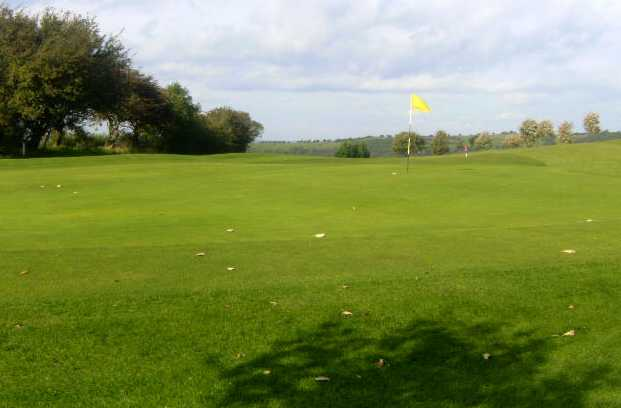 A view of the 2nd green at Houghton le Spring Golf Club