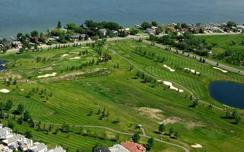 Aerial view of the Lakeside Greens Golf and Country Club