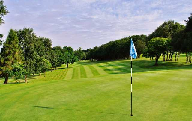 A view of the 17th green at Edgbaston Golf Club