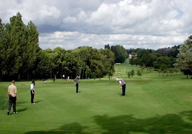 The tree lined parkland course at Harborne Church Farm Golf Club